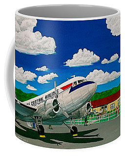 Portsmouth Ohio Airport And Lake Central Airlines Coffee Mug by Frank Hunter