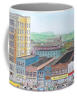 Portsmouth Ohio Dime Store Row 4th To 5th Coffee Mug by Frank Hunter