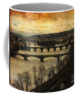 Vintage Prague Vltava River 1 Coffee Mug