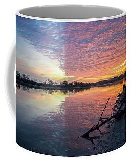 River Glows At Sunrise Coffee Mug