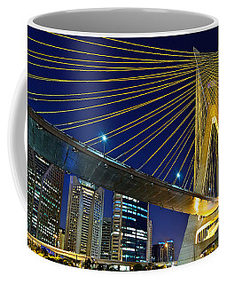 Sao Paulo's Iconic Cable-stayed Bridge  Coffee Mug