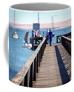Seagull In Flight Coffee Mug