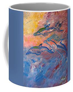Soaring Dolphins Coffee Mug by Meryl Goudey