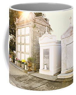 Coffee Mug featuring the photograph   Tombstones  by Erika Weber
