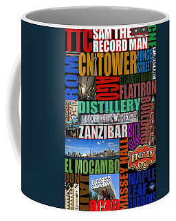 Toronto Typography Coffee Mug by Andrew Fare