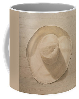 Travelling Hat On Dusty Table Coffee Mug