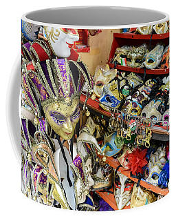 Vintage Venetian Carnival Masks For Sale In Venice Italy Coffee Mug