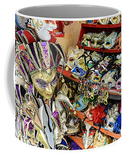 Vintage Venetian Carnival Masks For Sale In Venice Italy Coffee Mug