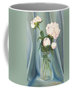 White Flower Purity Coffee Mug