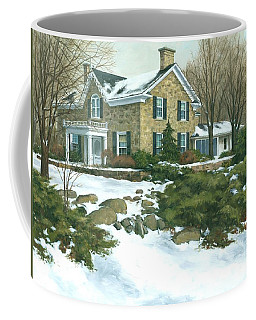 Winter's Retreat   Coffee Mug by Michael Swanson