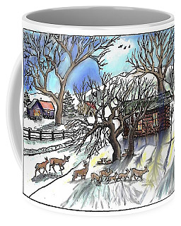 Wyoming Winter Street Scene Coffee Mug