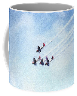 0161 - Air Show - Pastel Chalk 2  Coffee Mug