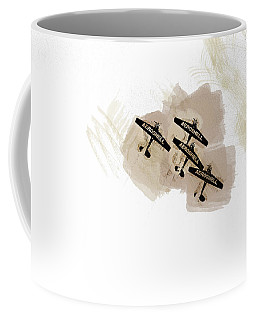 0166 - Air Show - Brown Water Coffee Mug
