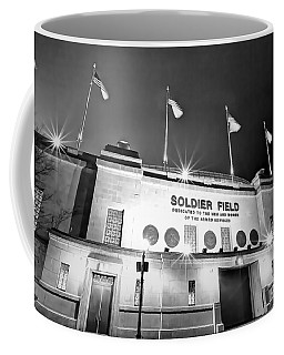 0879 Soldier Field Black And White Coffee Mug