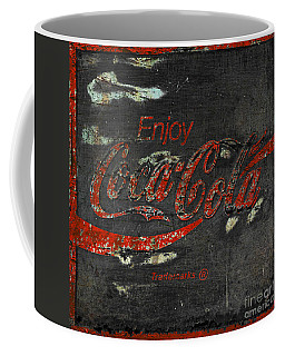 Coca Cola Sign Grungy  Coffee Mug by John Stephens