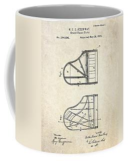 1878 Steinway Grand Piano Forte Patent Art S. 1 Coffee Mug