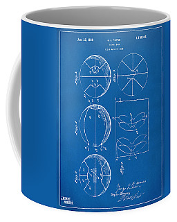 1929 Basketball Patent Artwork - Blueprint Coffee Mug