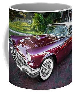 1957 Ford Thunderbird Convertible Painted    Coffee Mug