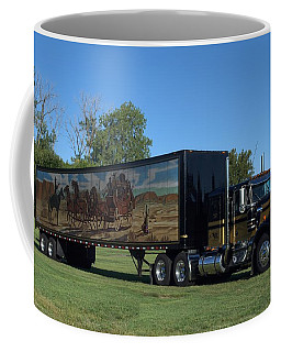 Smokey And The Bandit Tribute 1973 Kenworth W900 Black And Gold Semi Truck Coffee Mug
