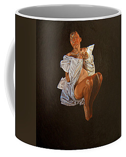 Coffee Mug featuring the painting 1 30 Am by Thu Nguyen