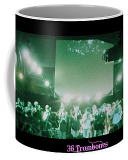 Coffee Mug featuring the photograph 36 Trombones by Kelly Awad