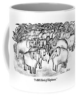 1-800 Herd Of Elephants Coffee Mug