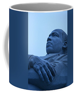Coffee Mug featuring the photograph A Blue Martin Luther King - 1 by Cora Wandel