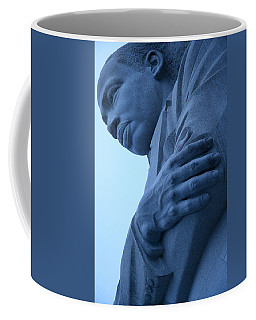 Coffee Mug featuring the photograph A Blue Martin Luther King - 2 by Cora Wandel