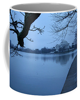 Coffee Mug featuring the photograph A Blue Morning For Jefferson by Cora Wandel
