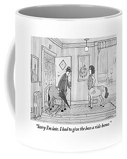 A Male Centaur Coffee Mug