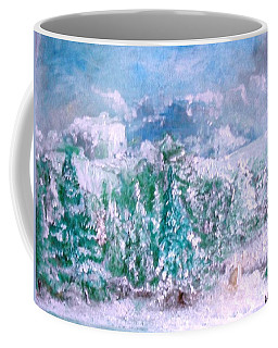 Coffee Mug featuring the painting A Natural Christmas by Laurie Lundquist