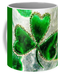 A Shamrock On Ice Coffee Mug by Angela Davies