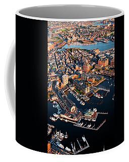 Aerial Morning View Of Harbor Coffee Mug