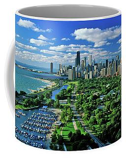 Aerial View Of Chicago, Illinois Coffee Mug
