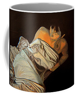 Coffee Mug featuring the painting 1 Am by Thu Nguyen