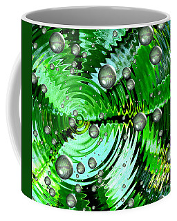Amazing. Abstract Art. Green Grey  Blue Yellow  Coffee Mug