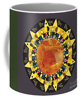 Amber Mandala Coffee Mug by Kim Prowse