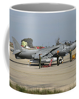 An Av-8b Harrier II Of The Spanish Navy Coffee Mug