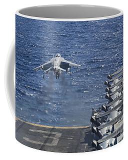 An Av-8b Harrier Takes Coffee Mug