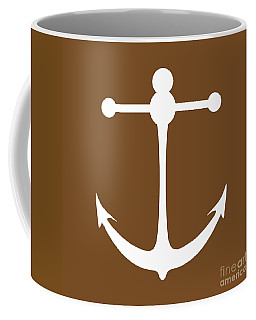 Anchor In Brown And White Coffee Mug