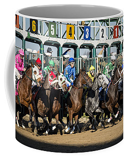 And They're Off Coffee Mug