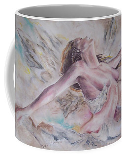 Coffee Mug featuring the pastel Angel Burst by Peter Suhocke