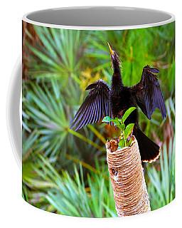 Anhinga Anhinga Anhinga On A Tree Coffee Mug