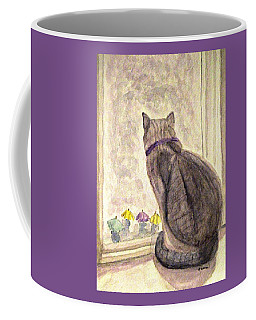 Coffee Mug featuring the painting April Showers by Angela Davies