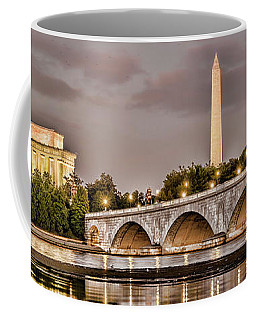 Arlington Memorial Bridge With Lincoln Coffee Mug