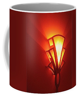 Coffee Mug featuring the photograph Art Deco Theater Light by David Lee Guss