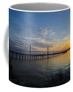 Coffee Mug featuring the photograph Sunset Over The Charleston Waters by Dale Powell