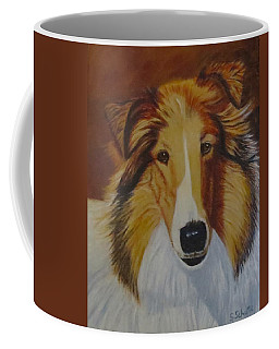 Coffee Mug featuring the painting Atticus by Sharon Schultz