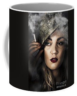 Attractive Pinup Woman In 1940 Military Style Coffee Mug