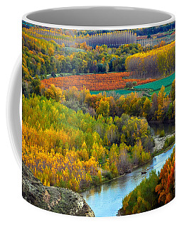 Autumn Colors On The Ebro River Coffee Mug